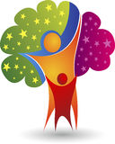 Rodzinnego drzewa logo royalty ilustracja