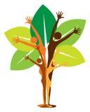 Rodzinnego drzewa pojęcie ilustracja wektor