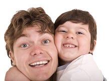 rodzinnego ojca szczęśliwy syn Zdjęcie Royalty Free