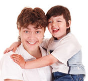 rodzinnego ojca szczęśliwy syn Obraz Royalty Free