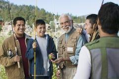 rodzinnego pokolenia męscy członkowie męski trzy Zdjęcie Stock