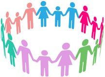 Rodzinnej różnorodności społeczności Ogólnospołeczni ludzie ilustracji