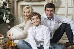 Rodzinni boże narodzenia Zdjęcie Royalty Free