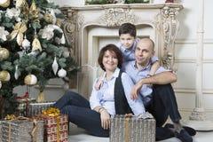 Rodzinni boże narodzenia Obrazy Stock
