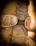 Rodzinni buty Zdjęcie Stock
