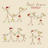 Rodzinni doodles Obrazy Stock