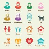 Rodzinni elementy Zdjęcie Royalty Free
