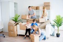 Rodzinni kocowanie kartony Obraz Stock