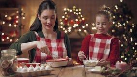 Rodzinni kulinarni Bożenarodzeniowi ciastka zbiory