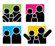 Rodzinni logowie Obrazy Stock