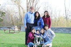 rodzinni międzyrasowi siedem Fotografia Royalty Free