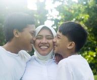 rodzinni muslim Obrazy Royalty Free