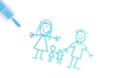 rodzinni plany royalty ilustracja