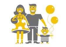 rodzinni potomstwa ilustracja wektor