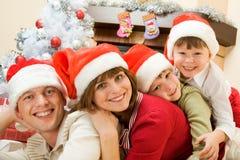 rodzinni Santas Obrazy Royalty Free