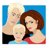 rodzinni szczęśliwi portreta syna potomstwa Zdjęcia Stock