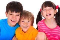 rodzinni szczęśliwi potomstwa Obraz Stock