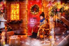 Rodzinni zima wakacje Fotografia Royalty Free