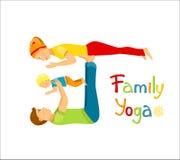 Rodzinny ćwiczy joga ilustracja wektor