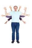 rodzinny śmieszny potwór bawić się okropnego Fotografia Stock