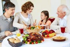 Rodzinny świętowanie zdjęcie royalty free
