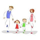 rodzinny bawić się Obrazy Stock