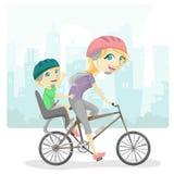 Rodzinny bicykl Zdjęcie Stock