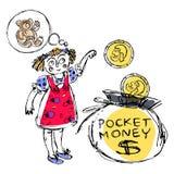 Rodzinny budżet jednakowi 2 ilustracja wektor