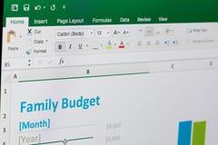 Rodzinny budżet w Microsoft przoduje obrazy royalty free
