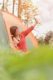 Rodzinny camping Zdjęcia Stock