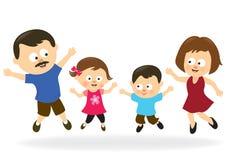 Rodzinny doskakiwanie ilustracji