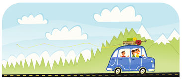 rodzinny drogowy lato wycieczki wakacje Zdjęcie Stock