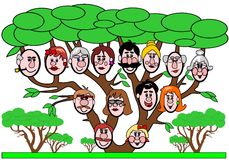 rodzinny drzewo Fotografia Stock