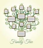 Rodzinny drzewo z fotografią obramia wektorową ilustrację Rodziców i dzieci obrazki, dynastia pokolenia royalty ilustracja