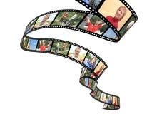 rodzinny filmstrip odizolowywający przedmiot nad fotografiami biały ilustracja wektor