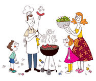 Rodzinny grill Fotografia Royalty Free