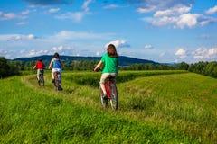 rodzinny Jechać na rowerze Obraz Royalty Free