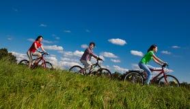 rodzinny Jechać na rowerze Obraz Stock