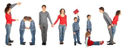 rodzinny kolażu słowo zdjęcia royalty free