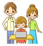 rodzinny komputer osobisty Obrazy Royalty Free