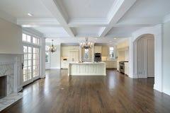 rodzinny kuchenny pokój zdjęcie royalty free