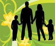 rodzinny kwiecisty wektor royalty ilustracja