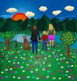Rodzinny las Zdjęcie Royalty Free