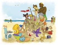rodzinny lato ilustracji