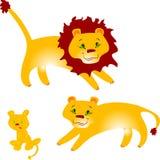 rodzinny lew s Obraz Stock