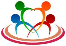 Rodzinny logo fotografia stock