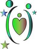 Rodzinny logo obrazy royalty free