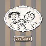 Rodzinny obrazek z rodzicami i synem Obrazy Stock