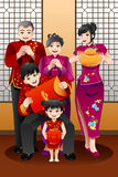 Rodzinny odświętność chińczyka nowy rok ilustracji