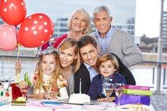 Rodzinny odświętność urodziny Obrazy Royalty Free